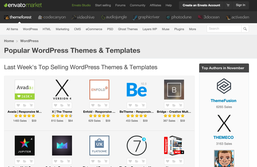 buying wp themes
